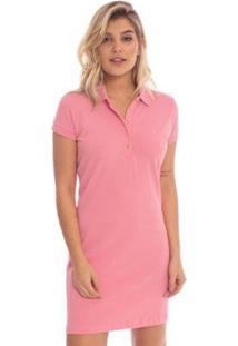 Vestido Aleatory Liso Shiny Feminino - Feminino-Coral