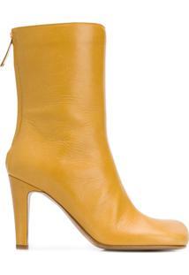 Bottega Veneta Bota Bico Quadrado - Amarelo