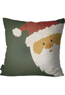 Capa Para Almofada Mdecor De Natal Papai Verde