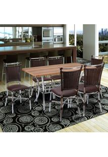 Conjunto Mesa Retangular Em Mdp E 6 Cadeiras 1892 Cozinha Fil Móveis Tabaco