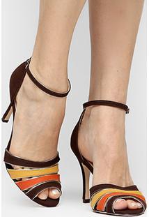 f80dfa2045 Sandália Com Salto Shoestock feminina