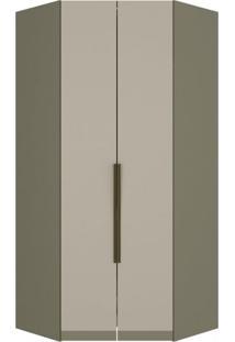 Módulo Para Closet De Canto 2 Portas Com Iluminação Interna Exclusive Henn
