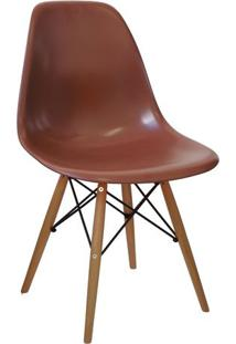 Cadeira Eames Dkr- Cafã© & Madeira- 80,5X46,5X42Cm