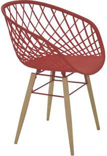 Cadeira Sidera- Vermelho Escuro & Bege- 82X63X55,5Cmtramontina