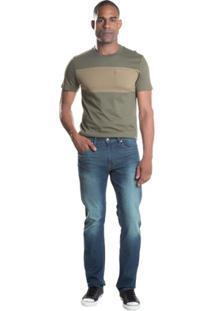 Calça Jeans 513 Slim Straight Levis - Masculino-Azul
