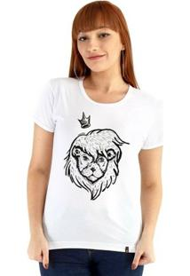 Baby Look Ouroboros Manga Curta O Rei Leão! - Feminino-Branco