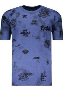 Camiseta Fatal Energy Estampada - Masculino-Azul