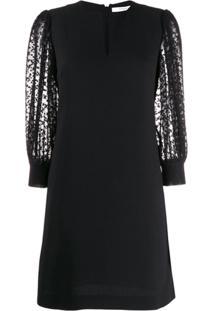 Givenchy Vestido Reto Com Decote Em V - Preto