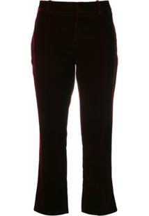 Saint Laurent Calça Cropped - Vermelho