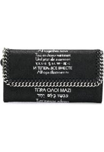 Stella Mccartney Carteira Continental X The Beatles All Together Now Falabella - Preto