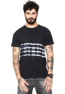 Camiseta Quiksilver Tie Dye Strips Cinza