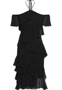 Vestido Mídi Oslo - Preto