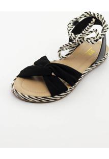 Sandália Btr Fashion De Corda Preto