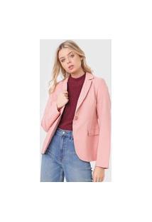 Blazer Polo Wear Alfaiataria Rosa