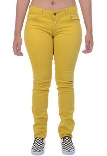 Calça Jeans Roxy Voyage Amarela - Amarelo / 36