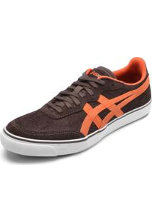 Tênis Couro Asics Top Spin Suede Marrom