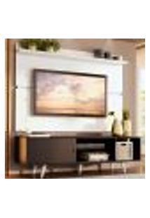 Rack Madesa Dubai E Painel Para Tv Até 65 Polegadas Com Pés - Preto/Branco 8N09
