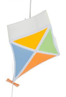 Lustre Pipa Colorida Potinho De Mel Colorido