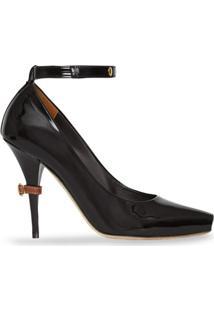 Burberry Sapato De Couro Envernizado - Preto