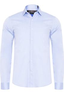 Camisa Masculina Light Twill - Azul