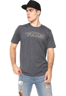 Camiseta Volcom Straight Up Cinza