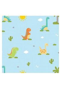 Papel De Parede Infantil Quartinhos Dinossauro Baby 2,70X0,57M