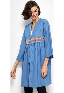 b5e8ba90e1 ... Blusa Acrobat Kimono Jeans Feminina - Feminino