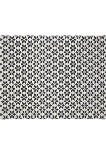 Tapete Kilim Caleidoscopio Off White/Black