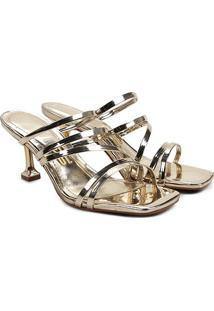 Sandália Santa Lolla Specchio Metalizado - Feminino