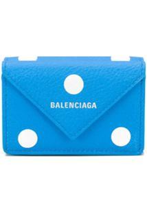 Balenciaga Carteira Papier Mini Com Estampa - Azul