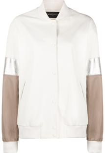 Simonetta Ravizza Jaqueta Bomber Color Block - Neutro