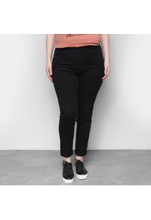 Calças Jeans Sawary Feminino Skinny Compressora Plus Size-263309 - Feminino-Azul
