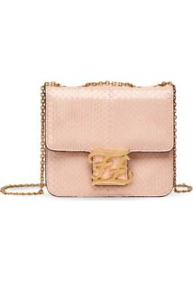 Fendi Karligraphy Shoulder Bag - Rosa