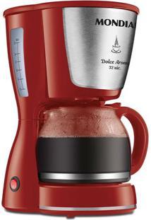 Cafeteira Elétrica Filtro Permanente Mondial Dolce Arome Inox Vermelha 32 Xícaras - 127V