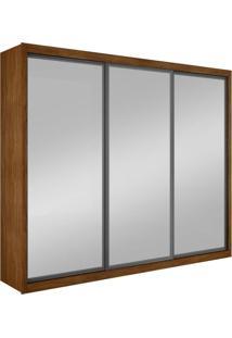 Guarda-Roupa Casal Com Espelho Ravena Top Imbuia 3 Pt 6 Gv