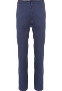Calça Masculina Chino Solida Algodão - Azul