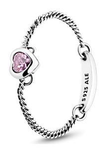Anel Amuleto Do Amor Rosa - 44