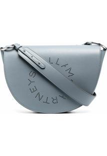 Stella Mccartney Stella Logo Curved Crossbody Bag - Azul