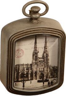 Porta-Retrato De Metal Decorativo Catedral