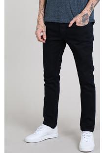 Calça Jeans Masculina Skinny Com Bolsos Azul Escuro