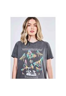 Camiseta Em Malha Estonada Metamorphosis
