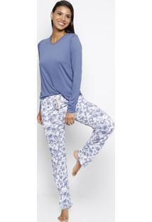 84f70486a ... Pijama Floral - Azul   Brancozee Rucci