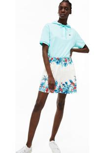 Bermuda Lacoste Regular Fit Branco - Branco - Feminino - Dafiti