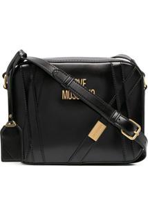 Love Moschino Strap Detail Shoulder Bag - Preto