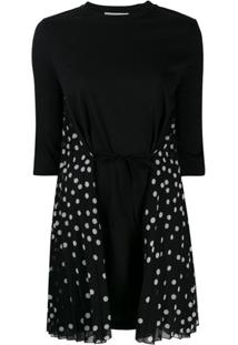 Stella Mccartney Vestido Mini Com Poás - Preto