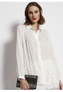 16de4c30d1 ... Camisa Lisa Com Strass - Branca - Simple Lifesimple Life