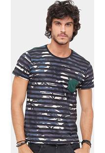 Camiseta Local Listrada Camuflada Masculina - Masculino