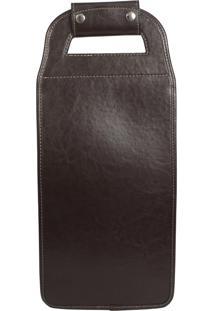 Bolsa Porta Garrafas Incorpast 2 Compartimentos Marrom