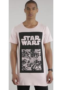 Camiseta Longa Star Wars Rosê