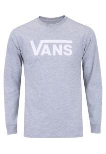Camiseta Manga Longa Vans Classic Ls - Masculina - Cinza